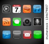 app icons   vector app icons on ... | Shutterstock .eps vector #134679857