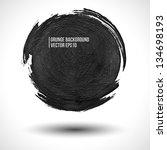grunge vector background. round ... | Shutterstock .eps vector #134698193