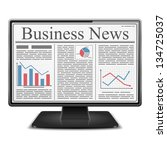 business news on the screen of... | Shutterstock .eps vector #134725037