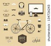hipster style | Shutterstock .eps vector #134726243