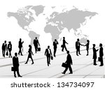 business people | Shutterstock .eps vector #134734097