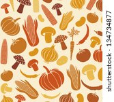 seamless pattern with... | Shutterstock .eps vector #134734877