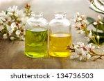 bunch of spring flower  massage ... | Shutterstock . vector #134736503