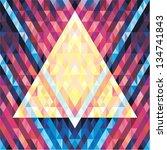 geometric background   vector...   Shutterstock .eps vector #134741843