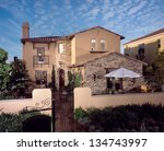 home exterior of house with... | Shutterstock . vector #134743997