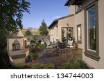 home exterior of house with... | Shutterstock . vector #134744003