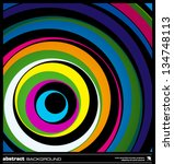 abstract colorful geometric... | Shutterstock .eps vector #134748113