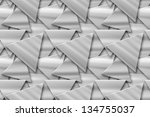 grey background with triangles | Shutterstock . vector #134755037