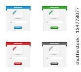 newsletter forms | Shutterstock .eps vector #134778077