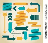 vector arrows and ribbons | Shutterstock .eps vector #134822663