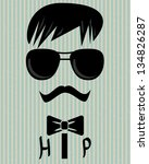 abstract vector hipster... | Shutterstock .eps vector #134826287