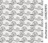 seamless oriental cloud pattern.... | Shutterstock .eps vector #134829893