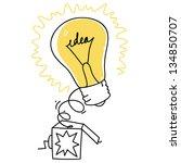 surprise box with idea bulb...