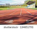 photo finish for a running race | Shutterstock . vector #134851793