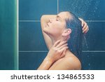 beauty under shower | Shutterstock . vector #134865533