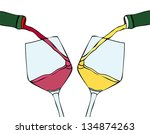 white wine and red wine | Shutterstock .eps vector #134874263