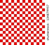 red and white checkered... | Shutterstock . vector #134879957