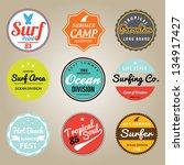 set of summer   surfing design  ...   Shutterstock .eps vector #134917427