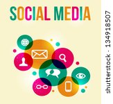 social media icons set in... | Shutterstock . vector #134918507