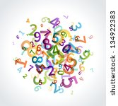 colorful numbers vector... | Shutterstock .eps vector #134922383