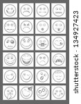 clean emoticon icons. white... | Shutterstock .eps vector #134927423
