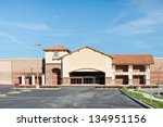 New business building is vacant in the suburbs. - stock photo