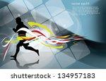sport vector illustration | Shutterstock .eps vector #134957183