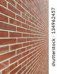 A Red Brick Wall Shot Close...