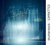 abstract high tech background... | Shutterstock . vector #134967713