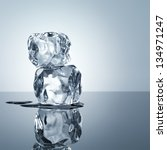 ice cubes minimalistic...