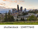 city of seattle | Shutterstock . vector #134977643