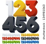 three dimensional alphabet.... | Shutterstock .eps vector #134981063