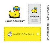 duckling in sunglasses   Shutterstock . vector #134989397