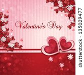 valentine's day card with... | Shutterstock . vector #135029477
