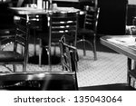 Old FIfty's style diner and chrome table and chairs - stock photo