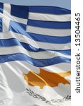 Cyprus And Greek Flags In The...