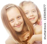 Two Beautiful Little Girls On ...