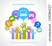 social media generation  vector ... | Shutterstock .eps vector #135084227