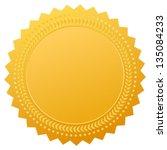blank gold seal  vector clip art | Shutterstock .eps vector #135084233