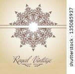 royal pattern card | Shutterstock .eps vector #135085937