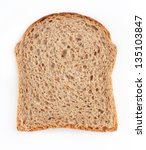 Brown Bread Slice Isolated On...