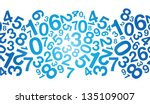 Abstract Blue Number Background
