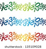 abstract multi number background - stock vector