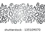 abstract black number background - stock vector