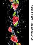 Strawberries In Water Splash ...