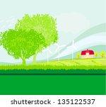 eco farming   landscapes | Shutterstock .eps vector #135122537