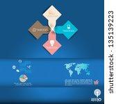 modern template infographic... | Shutterstock .eps vector #135139223