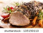 veal roast with vegetables | Shutterstock . vector #135150113