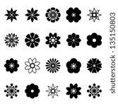 flower vector black and white   Shutterstock .eps vector #135150803