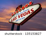 welcome to las vegas sign neon... | Shutterstock . vector #135153827